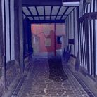 The alley by long gone pub The Christopher in St Albans city centre.