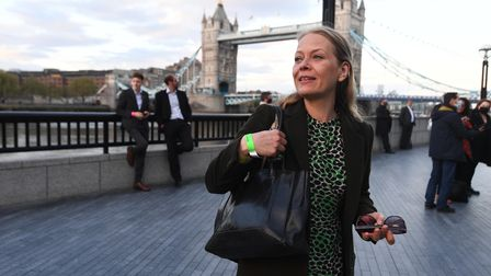 Green Party's Sian Berry arriving at City Hall, London, for the declaration for the next Mayor of Lo