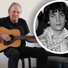 Mark Barrett, nephew of Syd Barrett (pictured inset), with the guitar once owned by the Pink Floyd founder member