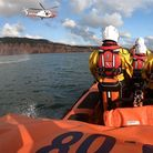 Sidmouth Lifeboat in training withHM CoastguardSearch and Rescue
