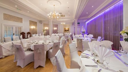 The Royal Hotel dining room can cater for up to 120 wedding guests