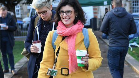 Liberal Democrat MP and leadership candidate, Layla Moran, arriving at the Houses of Parliament, Lon