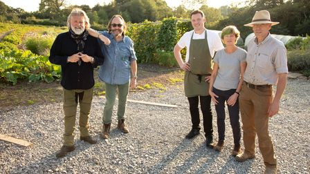 The Hairy Bikers with head chef of The Black Swan, Tommy Banks and his parents Anne and Tom