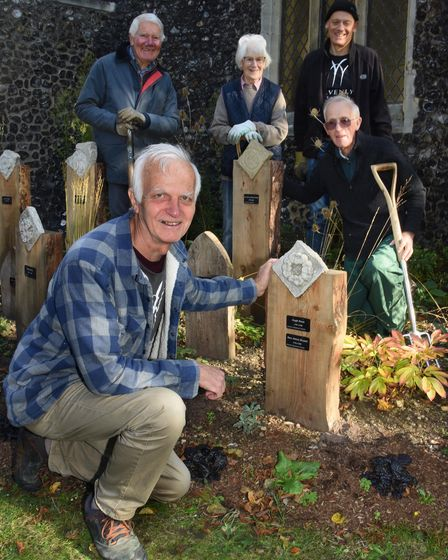 George Ishmael, front, with some of the Heavenly Gardeners volunteers who have worked on the new Nor