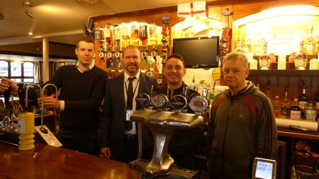 Sgt Ricki Vaughan at The Two Willows pub.