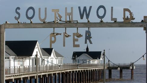 Southwold Pier provides hours of tricky fun and games.