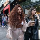 Jesy Nelson arrives at Global's studios in Leicester Square, London, to support Global's Make Some N