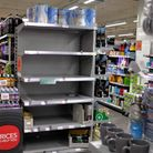 Shelves at the Co-op in Crouch End