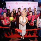 The Stevenage bowling alley's refurb was celebrated in Hollywood style yesterday (October 14)
