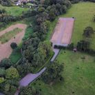 Aerial photo of the site of Honiton's new allotments