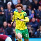 Josh Sargent of Norwich in action during the Premier League match at Turf Moor, Burnley Picture by