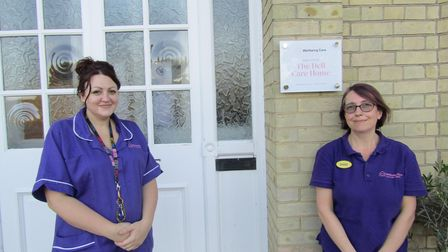 Rachel Reynolds and Diane Stamp, from The Dells care home in Lowestoft.