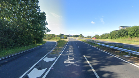 A motorbike crashed on the off ramp of the a14 at junction 67 near Felixstowe