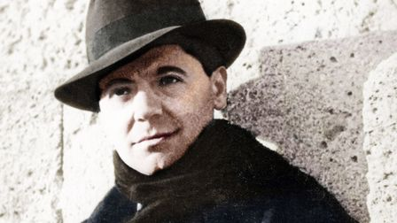 Jean Moulin (1899-1943), member of the French Resistance during World War II. In 1939. Coloured phot
