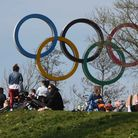 The good weather draws the crowds out to the Queen Elizabeth Olympic Park on Easter Sunday