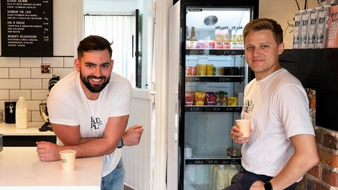 Alex and Olly of Brad & Dills in Harpenden.