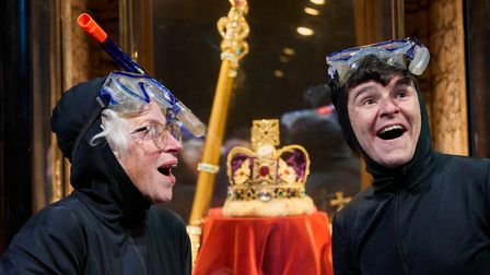 Granny and Ben attempt to steal the Crown Jewels inGangsta Granny by Birmingham Stage Company.