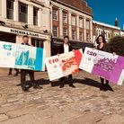 Hitchin celebrate the launch of H-Town Pounds