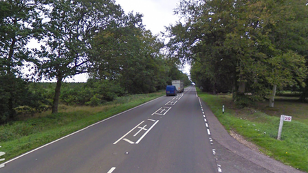 The A134 between Thetford and Lynford