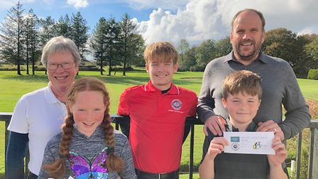 Sue Ritchie, Lucy Ritchie, Henry Bright and Ian Bright with Marcus Watson-Jones - Junior Captain (Centre)