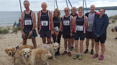 Honiton runners in the Studland Stampede