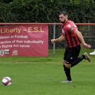 Scott Piggott finished off the rout for Saffron Walden Town at Sporting Bengal United.