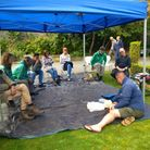 Jeff George ran a first aid session in Grove Park.