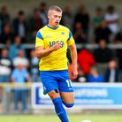 Olaf Koszela of Torquay United during the pre season match between Torquay United and Plymouth Argyl