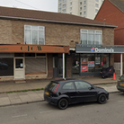 The existing Domino's branch in St Peter's Street, Lowestoft, and the tanning and beauty salon they hope to expand into