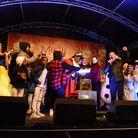 Havering Mayor Cllr Michael Deon Burton and S Club 3 turn on the Romford Christmas lights. Picture:
