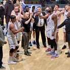 London Lions celebrate Plymouth victory in BBL Cup