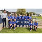 Weston Roses under-13s displaying their new sponsored kits.