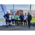 Weston over-50s with the Walking Football Association National Cup.