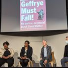 Speakers at the Geffrye Must Fall event.