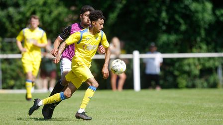 Mulik Rickman scored for Harpenden Town in the win over Harefield United.