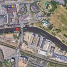 The location of a stabbing in Peterborough when a cyclist was attacked.