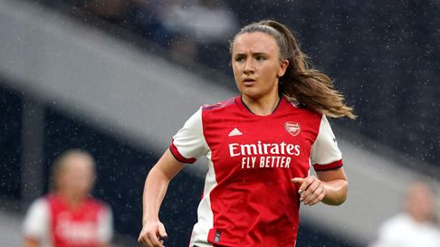 Arsenal's Teyah Goldie during The Mind Series match at the Tottenham Hotspur Stadium, London. Pictur