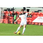 Jason Pope scored the opening goal for Weston AFC at Wimborne Town.