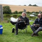 The Hairy Bikers enjoy their crab cakes as they journey through west Yorkshire