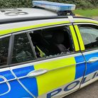Man to appear in court after smashing in a police car window with a Sledgehammer.