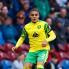 Max Aarons of Norwich in action during the Premier League match at Turf Moor, Burnley