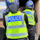 Cambs police officers on a county lines drugs crackdown