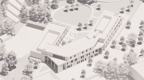 An image showing what the health and wellbeing centre on the former St George's Hospital site in Hor