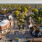 View over the north of St Peter's Street, as taken by drone pilot Robin Hamman.
