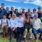 Jo Robjant from Honiton and her team after their walk for FORCE