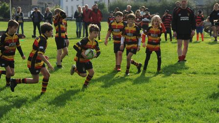 Great team play from the Honiton Juniors