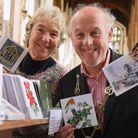 The Lord Mayor, Kevin Maguire, opens this year's Original Norwich Charity Christmas Card Shop at St