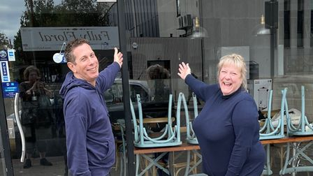 Partners Garry Pepperman and Tammy Westwood, who are opening a delicatessen in Barkingside High Road