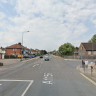 A crash involving an Audi and Mercedes partially blocked Norwich Road
