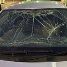 A driver was stopped in Great Yarmouth with a completely smashed windscreen.